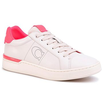 Sneakersy COACH - Lowline Ltr Low Top G5040 10011275 Chalk/Neon Pink