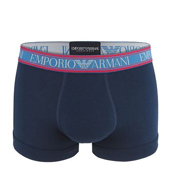 EMPORIO ARMANI - stretch cotton marine boxerky-XL (92-97 cm)