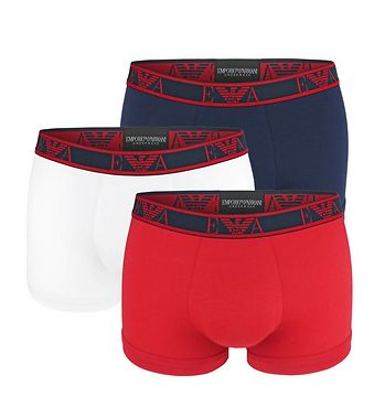 EMPORIO ARMANI - 3PACK stretch cotton rosso boxerky-L (86-91 cm)