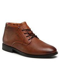 Tommy Hilfiger Šnurovacia obuv Technical Comfort Leather Boot FM0FM03062 Hnedá