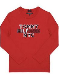 Tommy Hilfiger Blúzka Nyc Tee KB0KB05859 D Červená Regular Fit