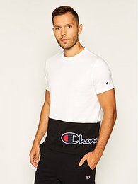 Champion Tričko Colour Block Wraparound Logo 214208 Biela Comfort Fit