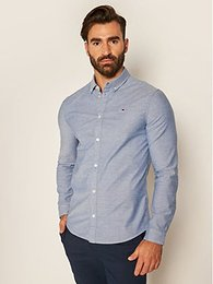 Tommy Jeans Košeľa Oxford DM0DM09594 Modrá Slim Fit