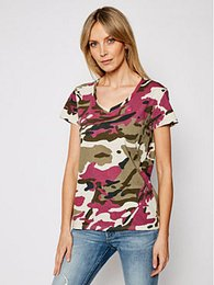 G-Star Raw Tričko Allover Camo Print D19231-C721-C374 Farebná Regular Fit
