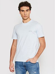 Calvin Klein Tričko Chest Logo K10K103307 Modrá Regular Fit