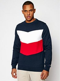 Tommy Hilfiger Mikina Colourblock MW0MW15574 Tmavomodrá Regular Fit