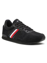 Tommy Hilfiger Sneakersy Iconic Material Mix Runner FM0FM03470 Čierna