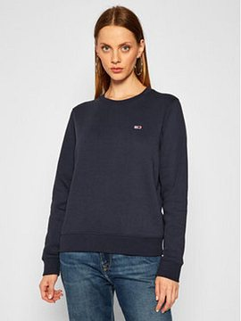 Tommy Jeans Mikina Fleece DW0DW09227 Tmavomodrá Regular Fit
