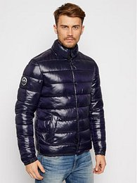 Superdry Vatovaná bunda High Shine Quilted M5010414A Tmavomodrá Regular Fit