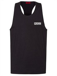 Hugo Tank top MACAU 50446386 Čierna Slim Fit