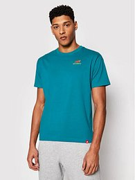 New Balance Tričko Essentials Embroidered Tee MT11592 Zelená Relaxed Fit