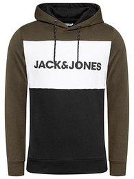 Jack&Jones Mikina Logo Blocking 12172344 Zelená Regular Fit