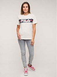 Fila Tričko Azrielle Graphic 687222 Béžová Regular Fit
