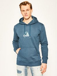 Quiksilver Mikina Empty Rooms Hoodie EQYFT04090 Modrá Regular Fit