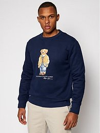 Polo Ralph Lauren Mikina Magic Fleece 710829165001 Tmavomodrá Regular Fit