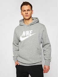 Nike Mikina Sportswear Club Fleece BV2973 Sivá Standard Fit