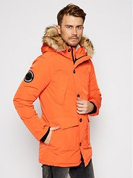 Superdry Zimná bunda Everest M5010204A Oranžová Regular Fit