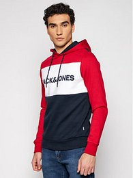 Jack&Jones Mikina Logo Blocking 12172344 Farebná Regular Fit