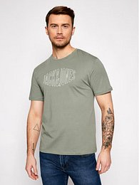 Jack&Jones Tričko Preston Big 12192589 Zelená Relaxed Fit