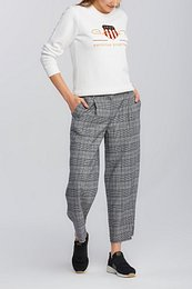 NOHAVICE GANT D1. CHECKED CROPPED WIDE PANT