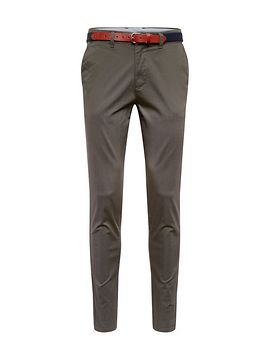 SELECTED HOMME Chino nohavice 'SLHSLIM-YARD AOP PANTS W'  tmavozelená