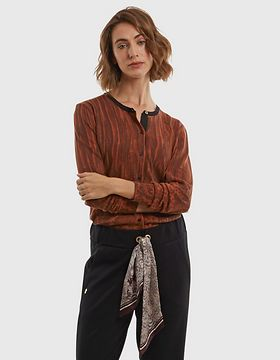 Sveter La Martina Woman Cardigan All Over Printe