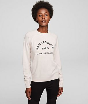 Sveter Karl Lagerfeld Address Logo Sweater - Červená - L