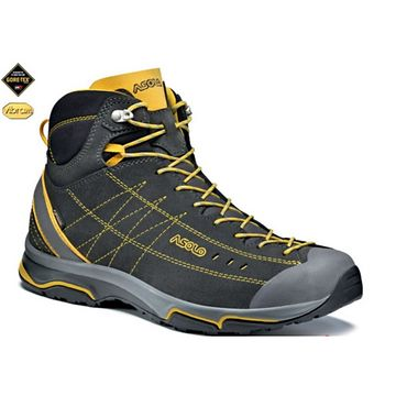 Topánky ASOLO nucleon Mid GV Graphite / Yellow A147 9 UK