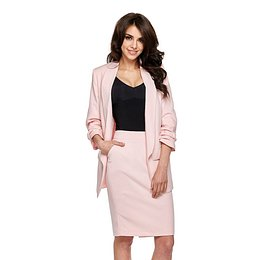 fitted jacket with ruffled sleeves