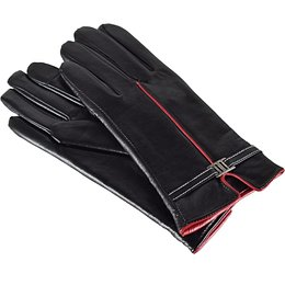 Semiline Woman's Women Leather Antibacterial Gloves P8214