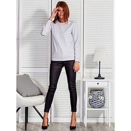 Gray women´s sweatshirt with a stripe on the sleeve