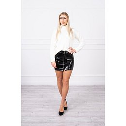 Double-layer skirt with express black
