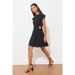 Trendyol Black Cut Out Detailed Dress