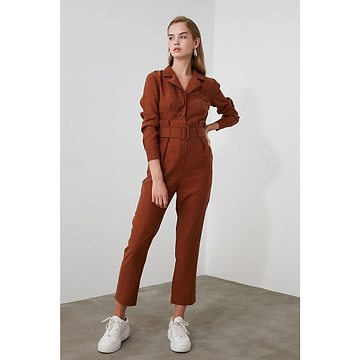 Trendyol Brown BeltEd Jumpsuit
