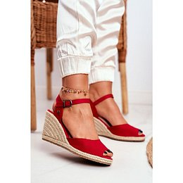 Women's Sandals On Wedge Heel Big Star Red DD274A213