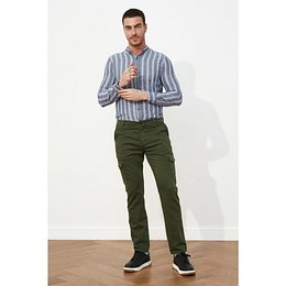 Trendyol Dark Green Men Slim Fit Cargo Pants
