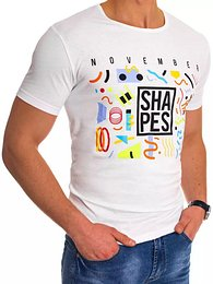 White RX4499 men's T-shirt with print