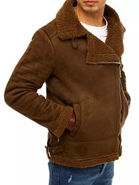 Men´s camel suede winter jacket TX3634