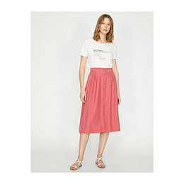 Koton Button Detail Skirt
