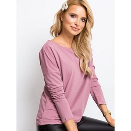 Basic dusty pink blouse with long sleeves