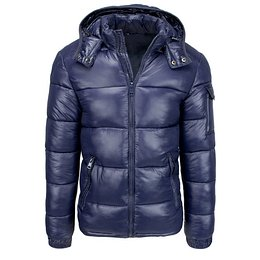 Navy blue men's quilted winter jacket TX3536
