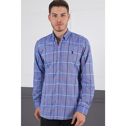 G716 DERBERRY MEN'S SHIRT-BLUE