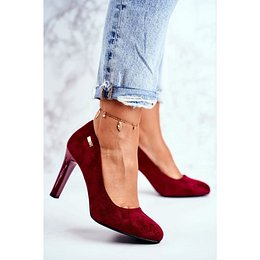 Women's Pumps Burgundy Suede Campbell