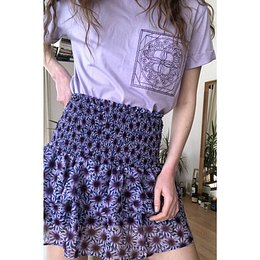 Trendyol Blue Patterned Skirt