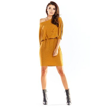 Awama Woman's Dress A325 Camel