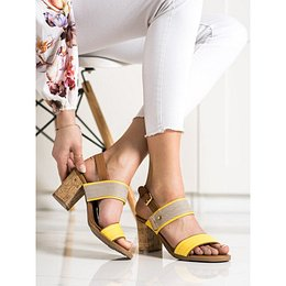 SHELOVET COMFORTABLE SANDALS ON THE POST
