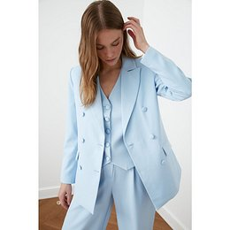 Trendyol Blazer WITH Light Blue Button Detail