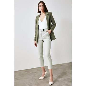 Trendyol Mint Belt Detailed Trousers