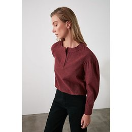 Trendyol Burgundy Sleeve Detailed Blouse