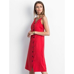 Red dress with buttons